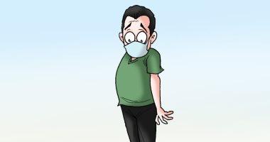 وعى المواطن طوق الإنقاذ من كورونا في كاريكاتير لليوم السابع