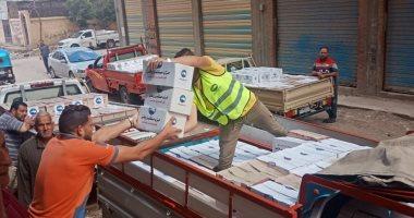توزع 7 آلاف كرتونة مواد غذائية فى 3 مراكز بكفر الشيخ للأسر الاكثر إحتياجاً