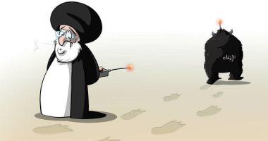 كاريكاتير صحيفة سعودية.. إيران تستخدم الإرهاب لتوجيه مصالحها