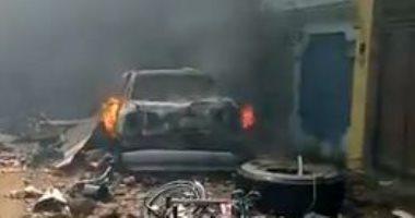 لقطات جديدة من موقع تحطم الطائرة الباكستانية بمنطقة كراتشي السكنية.. فيديو