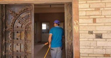 صور.. حملة رش وتعقيم لمركز شباب السلام بشمال سيناء