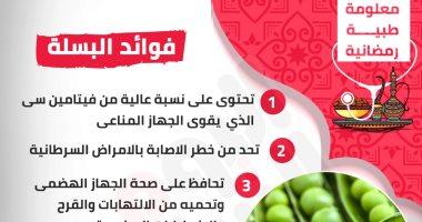 إنفوجراف.. معلومة طبية.. اعرف فوائد البسلة فى فطار رمضان