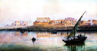 """100 لوحة عالمية.. """"منظر لمعبد الأقصر من النيل"""" حضارة مصر فى مشهد واحد"""