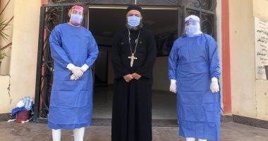 تعافى كاهن كنيسة العذراء من كورونا ومغادرته مستشفى العزل ببني سويف