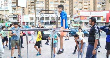 سور حديقة الميريلاند بمصر الجديدة يتحول إلى جيم رياضى