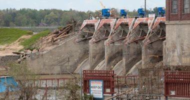 انهيار سد سانفورد في ولاية ميتشيجان الأمريكية