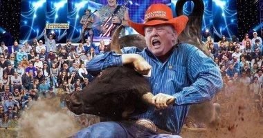"""الرئيس الأمريكى دونالد ترامب """"مصارع ثيران"""" فى صورة جديدة من نجله"""