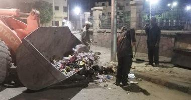 رفع 43 طن قمامة ومخلفات صلبة فى حملة نظافة بحى شمال مدينة الأقصر.. صور