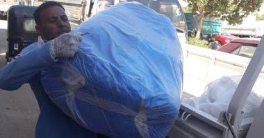إسعاف أسوان يتسلم 3000 بدلة واقية لاستخدامها فى نقل حالات كورونا