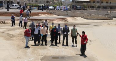 نائب محافظ الدقهلية يتققد مدينة المنصورة وجمصه للتأكد من قرار غلق الشواطئ