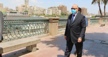 صور.. جولة لمحافظ القاهرة بكورنيش النيل والحديقة الدولية لمتابعة إجراءات العيد