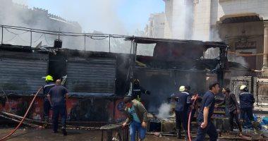صور.. إخماد حريق بـ3 أكشاك فى ميدان رمسيس دون إصابات