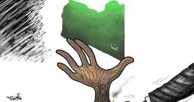 كاريكاتيرصحيفة عمان يسلط الضوء على الأوضاع فى ليبيا