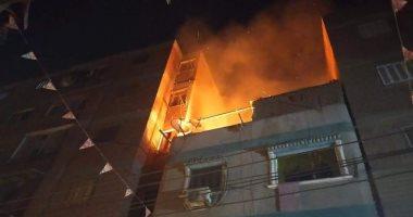 صور.. الحماية المدنية تسيطر على حريق منزل بقليوب