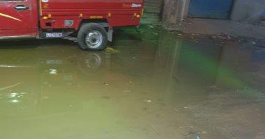 قارئ يشكو انتشار مياه الصرف الصحى فى شارع أحمد حسن بالطوابق