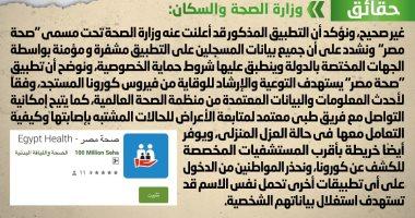 """الحكومة ترد على تداول منشور  يزعم عدم إطلاق تطبيق """"صحة مصر"""""""