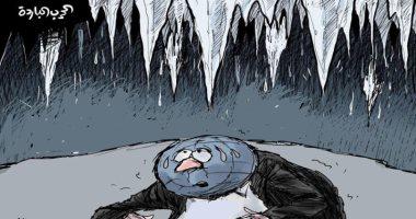 كاريكاتير صحيفة سعودية .. الحرب الباردة تقرب نهاية العالم