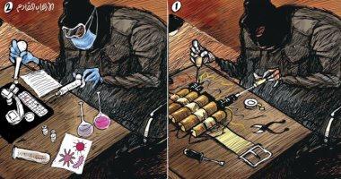 كاريكاتير صحيفة سعودية.. الفيروسات سلاح الإرهاب القادم
