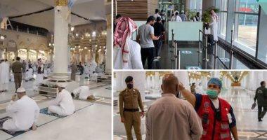 عودة الصلاة للمسجد النبوى