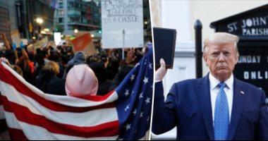 فى الليلة التاسعة من الاحتجاجات.. هدوء نسبى فى أمريكا واستمرار التظاهرات السلمية.. توجيه اتهامات لأربعة ضباط فى مقتل فلويد.. وتشريح جثته يكشف إصابته بكورونا..جيمس ماتيس يهاجم ترامب ويتهمه بتعمد تقسيم الأمريكيين