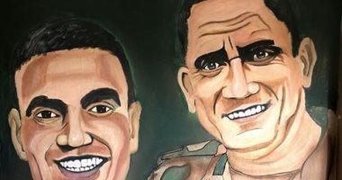 قارئ فنان يشارك برسم بورترية للشهيد البطل أحمد المنسى