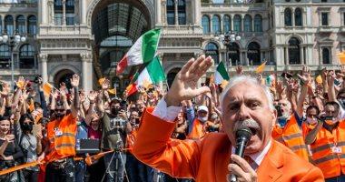 شاهد.. احتجاجات لأحزاب اليمين فى إيطاليا ضد الحكومة بسبب أزمة كورونا