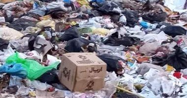 """اضبط مخالفة.. تراكم تلال القمامة داخل شوارع زفتى فى الغربية """"صور"""""""