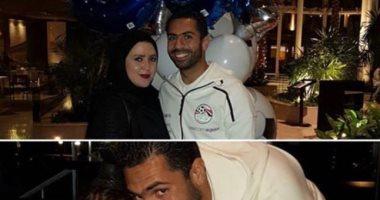 أمح الدولى يدعم أحمد فتحى بعد إصابة زوجته وبناته بكورونا