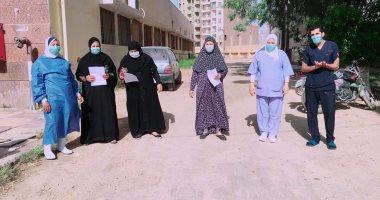 تعافى 3 حالات إصابة بكورونا ومغادرتهم مستشفى الصدر ببنى سويف