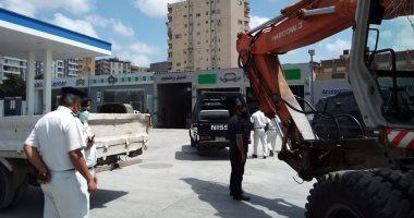 صور.. استرداد 1800 متر من أراضى الدولة في أحياء الإسكندرية