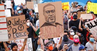 مظاهرات حاشدة فى واشنطن ونيويورك ولوس أنجلوس احتجاجاً على مقتل جورج فلويد