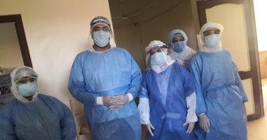 تعافى وخروج 7 حالات كورونا من مستشفى سمسطا المركزى والواسطى ببنى سويف
