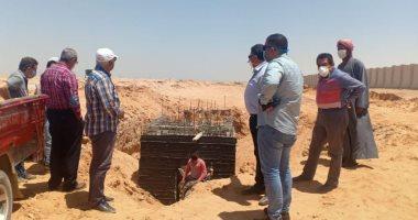 مسئول بوزارة الإسكان يتفقد سير العمل بالحيين الحكومى والسكنى بالعاصمة الإدارية