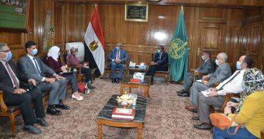 محافظ القليوبية يستقبل مدير برنامج الأغذية التابع للأمم المتحدة