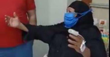 مسنة تطلق الزغاريد بمستشفى إسنا للحجر الصحى بعد شفائها من كورونا.. فيديو