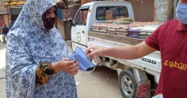 انطلاق أولى حملات توزيع الكمامات على المواطنين وأصحاب المحلات مجانا بالغربية