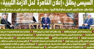 """اليوم السابع: السيسى يطلق """"إعلان القاهرة لحل الأزمة الليبية"""""""