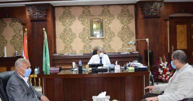 محافظ المنيا يستقبل السكرتير العام الجديد لمباشرة مهام عمله