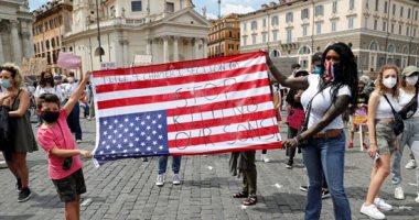 احتجاجات أمريكا تصل إيطاليا.. المئات يتظاهرون فى روما ضد العنصرية
