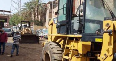 إزالة 13 حالة تعدى على أرضى زراعية بدير مواس فى المنيا
