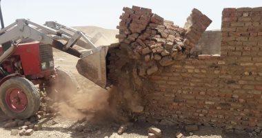 حملة إزالة للتعديات على أملاك الدولة بقرية اللديد فى أسوان