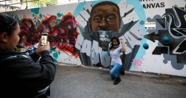 صور.. جداريات فى تورونتو تدعم الحركة المناهضة للعنصرية