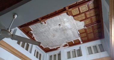 صور .. انهيار بسقف مبنى اتحاد المهن الطبية.. والأمين العام: سيتم إجراء ترميمات