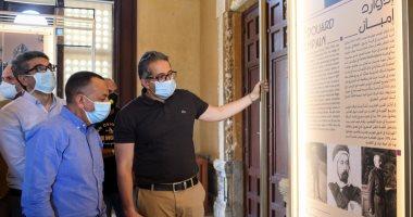 وزير السياحة يتابع تطبيق اشتراطات السلامة الصحية فى قصر البارون قبل افتتاحه..صور