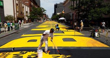 """جدارية """"حياة سوداء"""" فى نيويورك للمطالبة بالمساواة العرقية.. صور"""