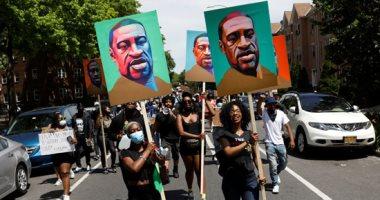 المظاهرات لا تزال مستمرة فى أمريكا احتجاجا على مقتل جورج فلويد