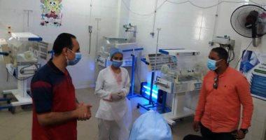 وكيل صحة سوهاج يتفقد مستشفى العسيرات المركزي ويوجه بسرعة تشغيل الحضانات
