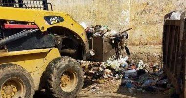 رفع القمامة وتطهير لجان الثانوية العامة فى الزقازيق وبلبيس