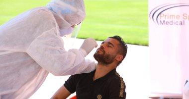صور.. لاعبو المصرى يجرون المسحة الأولى للكشف عن كورونا