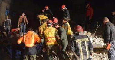 فيديو..مصرع 5 فى انهيار مبنى فى مدينة اللاذقية السورية